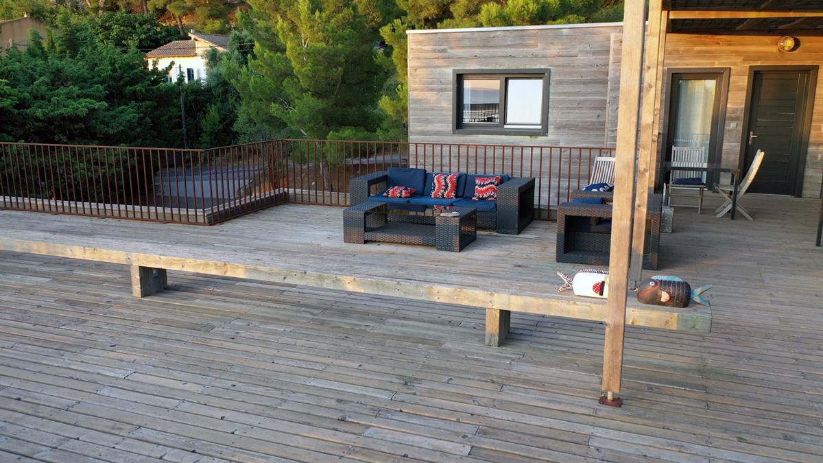 Salon de jardin sur rooftop à la Franqui