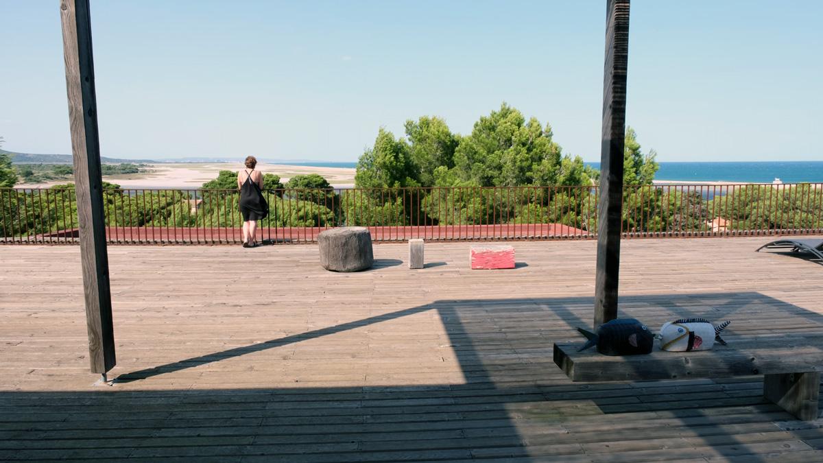 Terrasse panoramique avec vue sur mer